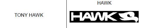 marca registrada y usada Tony Hawk